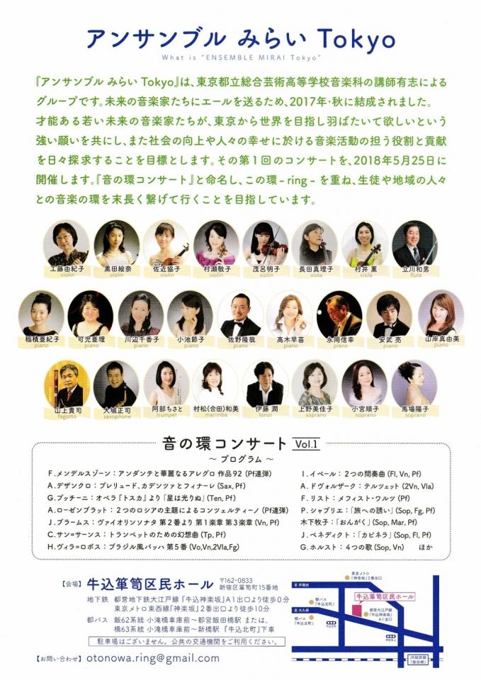 アンサンブルみらい Tokyo  音の環コンサート vol.1