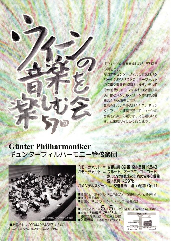 ギュンターフィルハーモニー管弦楽団 第57回 ウィーンの音楽を楽しむ会