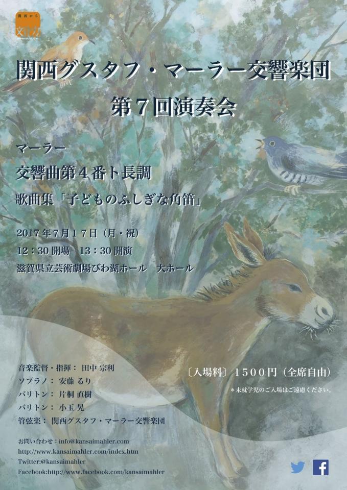 関西グスタフ・マーラー交響楽団 第7回演奏会