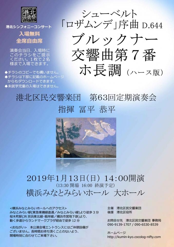 港北区民交響楽団 港北シンフォニーコンサート 第63回定期演奏会