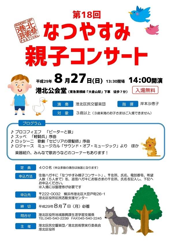 港北区民交響楽団 第18回なつやすみ親子コンサート