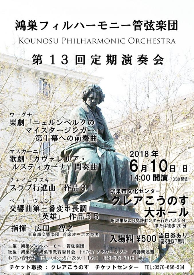 鴻巣フィルハーモニー管弦楽団 第13回定期演奏会