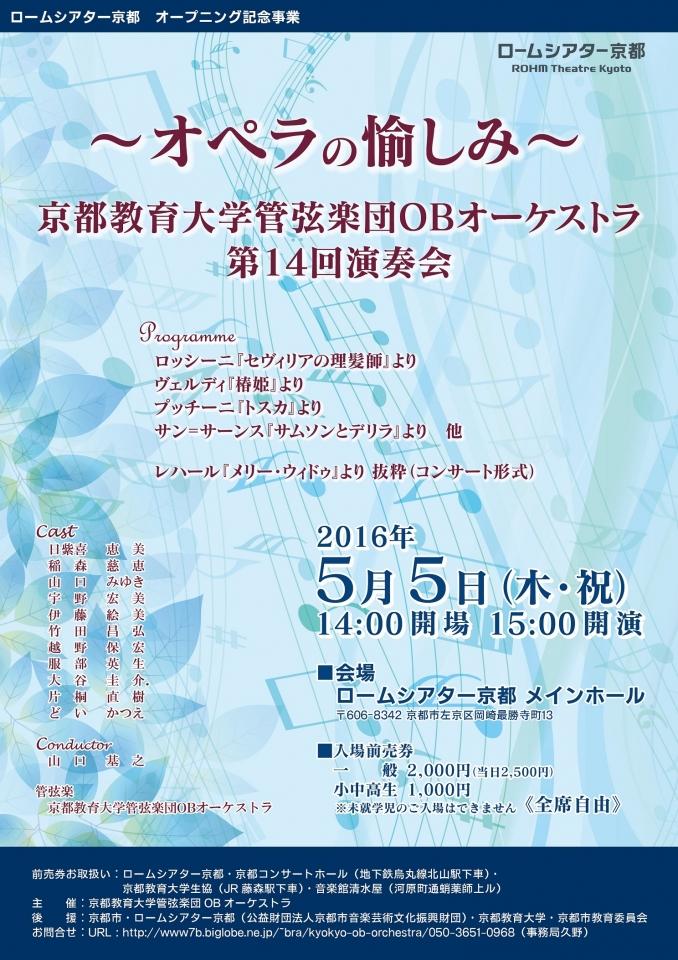 京都教育大学管弦楽団OBオーケストラ 第14回演奏会 《オペラの愉しみ》