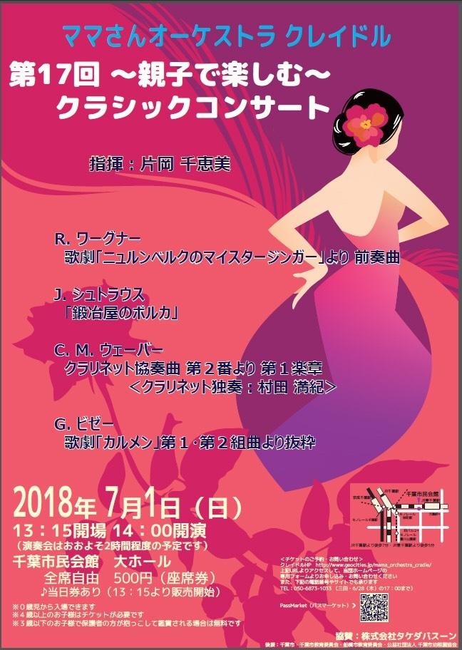 ママさんオーケストラ・クレイドル 第17回 〜親子で楽しむ〜クラシックコンサート