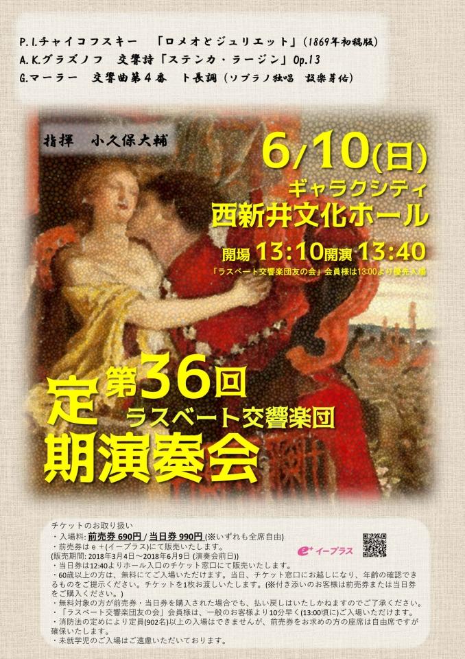 ラスベート交響楽団 第36回定期演奏会