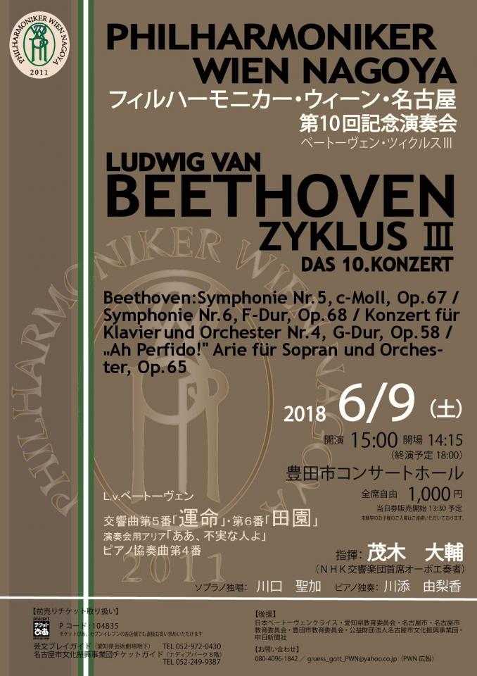 フィルハーモニカー・ウィーン・名古屋 第10回記念演奏会~ベートーヴェン・ツィクルスⅢ~