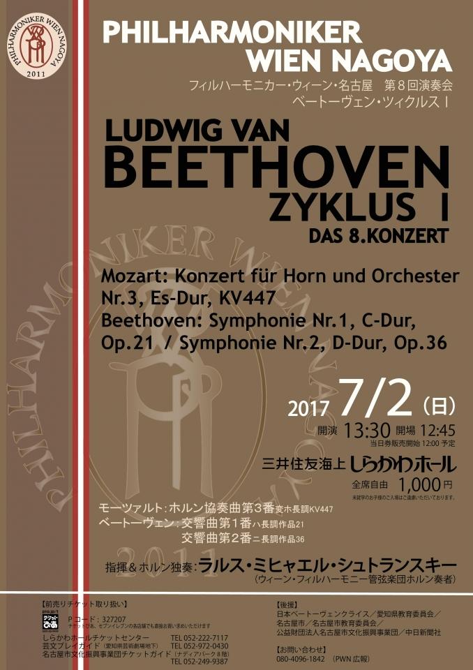 フィルハーモニカー・ウィーン・名古屋 第8回演奏会~ベートーヴェン・ツィクルスⅠ~