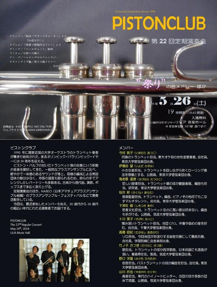 ピストンクラブ 第22回定期演奏会