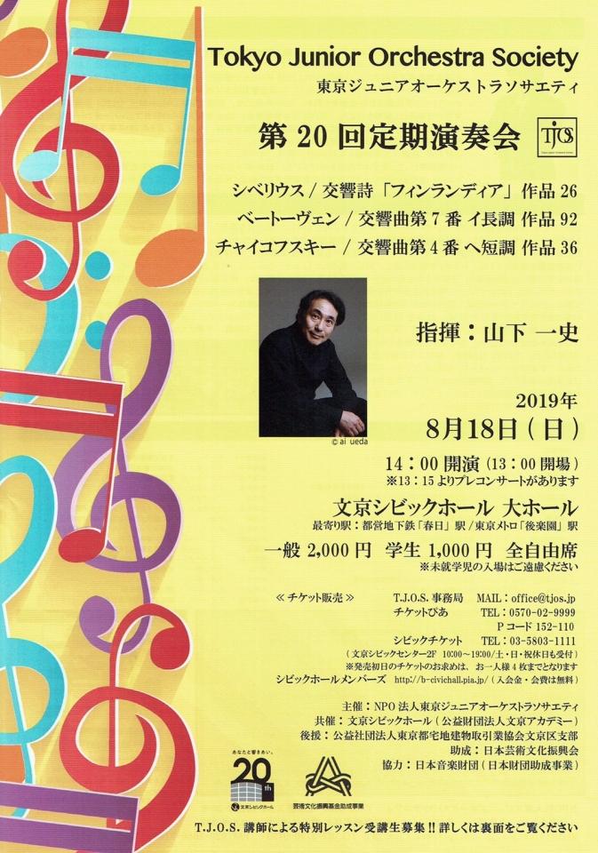 東京ジュニアオーケストラソサエティ 第20回定期演奏会
