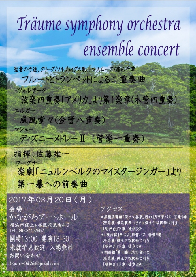 Traume Symphony Orchestra Ensemble Concert