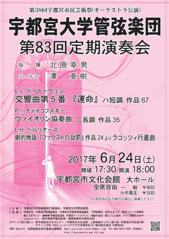 宇都宮大学管弦楽団 第83回定期演奏会