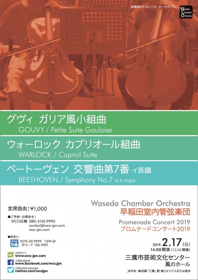 早稲田室内管弦楽団 プロムナードコンサート2019
