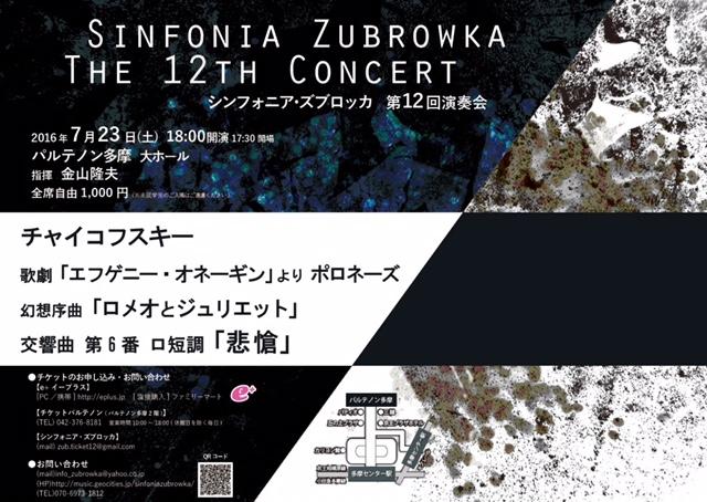 シンフォニア・ズブロッカ 第12回演奏会
